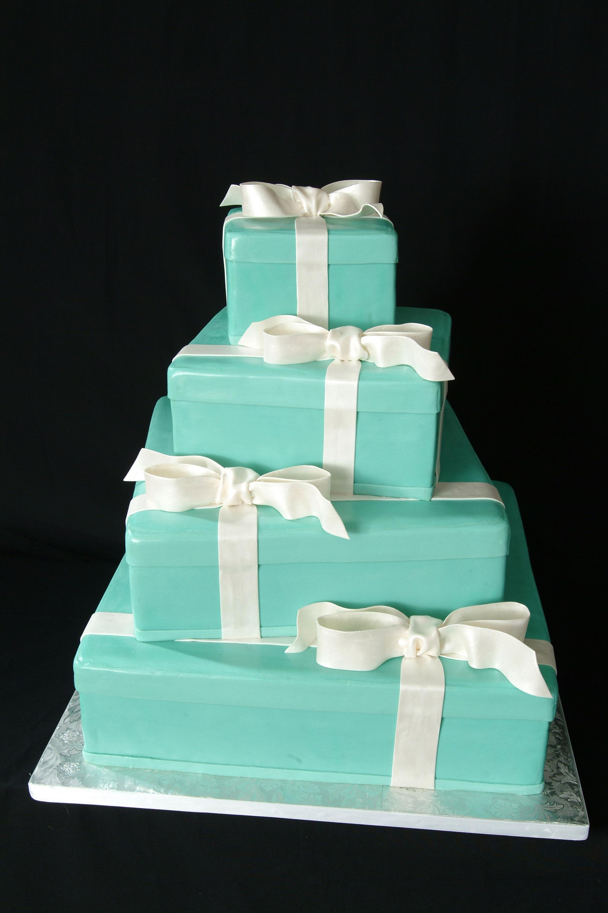 Tiffany Wedding Cake Boxes