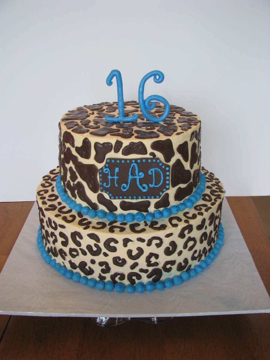 11 Photos of Aqua And Pink With Cheetah Print Cakes