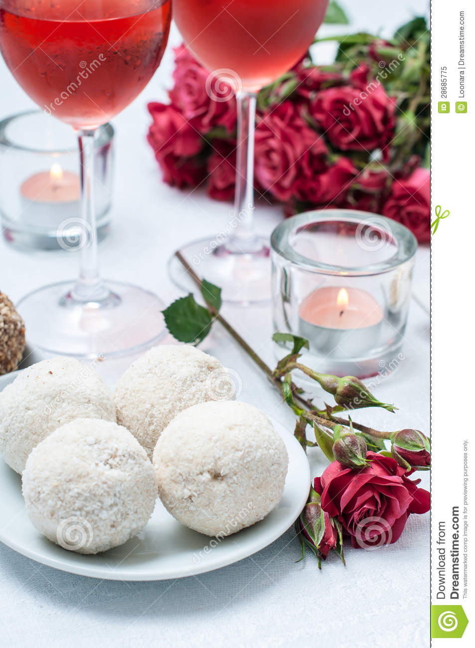 11 Small Coconut Cakes With Flowers Photo Wine and Flowers