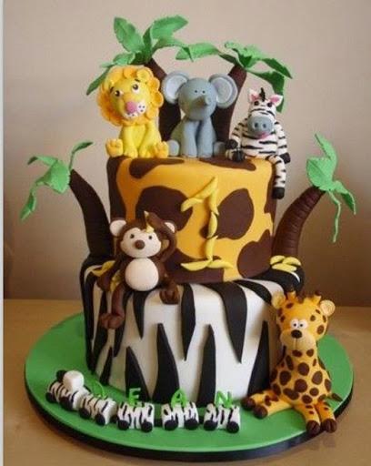 Awesome 9 1St Birthday Cakes For Boys In Zoo Photo Zoo Animal Birthday Funny Birthday Cards Online Amentibdeldamsfinfo