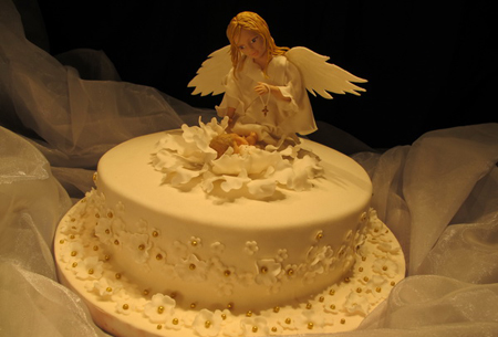 10 Cakes Shaped Like Angels Photo Angel Birthday Cake Christmas
