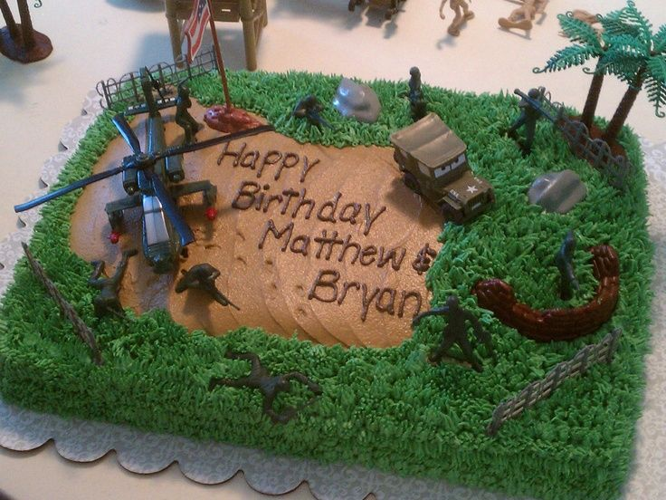 12 Boy Army Men Cakes Photo Boys Army Birthday Cake Army Men