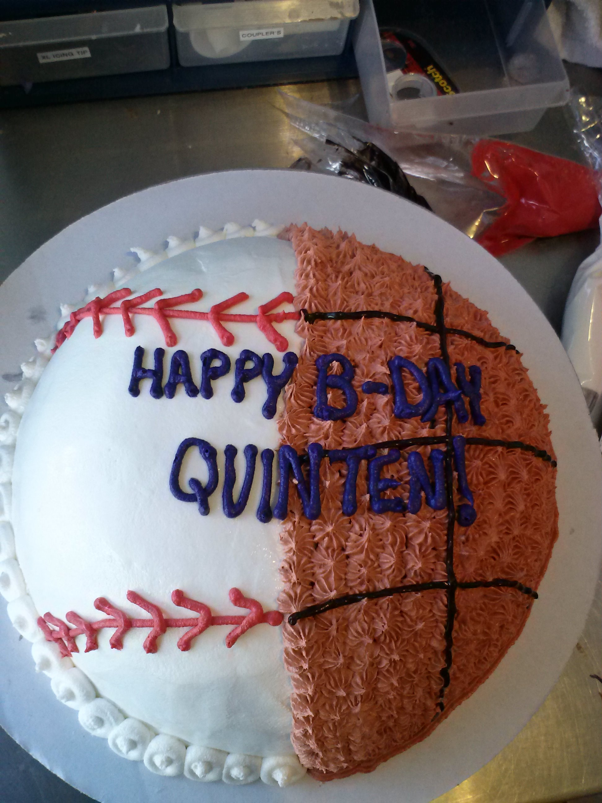 10 Basketball Birthday Cakes Ice Cream Photo Basketball Themed