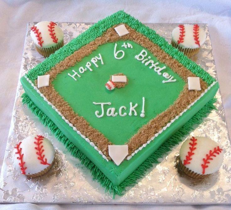 Awesome 13 Baseball Birthday Cakes For Men Craft Photo Baseball Themed Funny Birthday Cards Online Necthendildamsfinfo