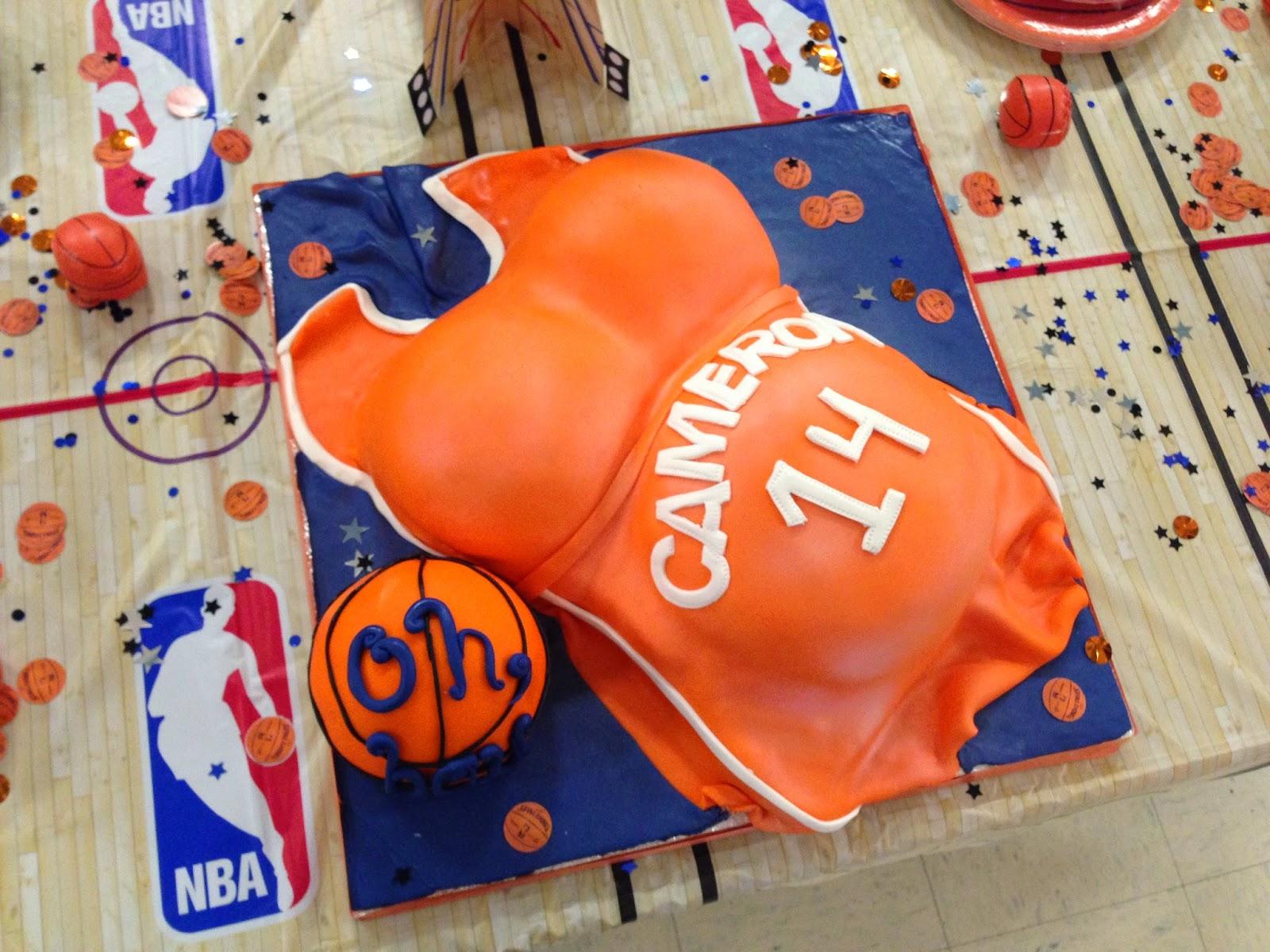 Great Basketball Baby Shower Cake