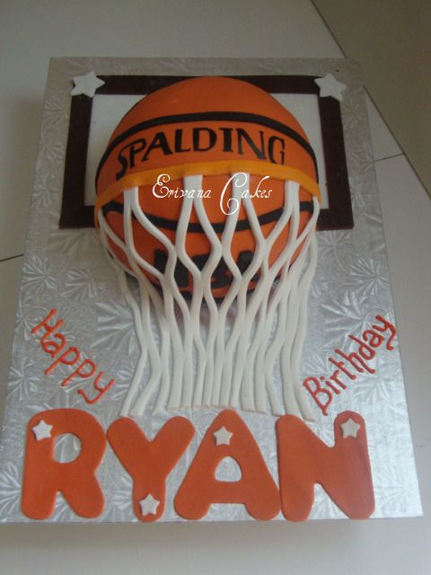 13 Basketball Gymnastics Cakes Photo Basketball Birthday Cake