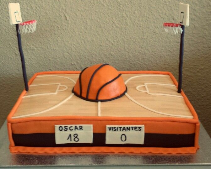 9 College Signing Cakes Baskba Fllor Photo Basketball Hoop Cake