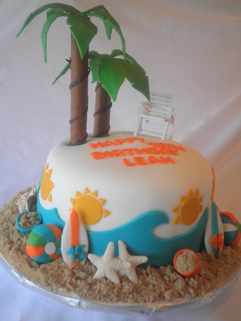 11 Beach Themed Anniversary Cakes Photo Beach Theme Birthday Cake