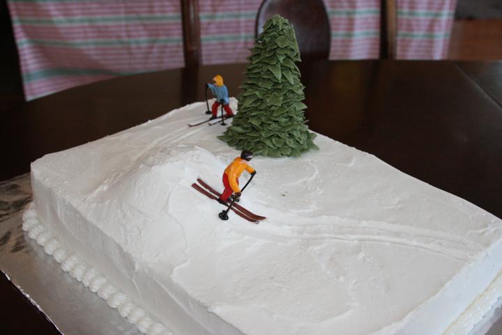 6 Skiing Or Snowboarding Diaper Cakes Photo Birthday Ski Cake