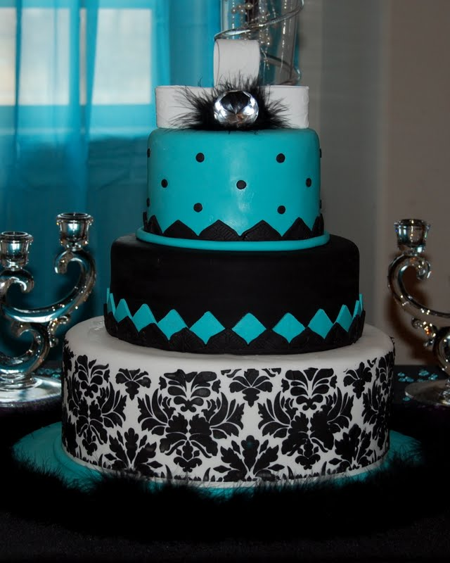 10 Black And Turquoise Wedding Cake Cupcakes Photo - Black and ...
