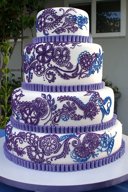 7 Royal Blue And Purple Wedding Cakes Ideas Photo - Blue and ...
