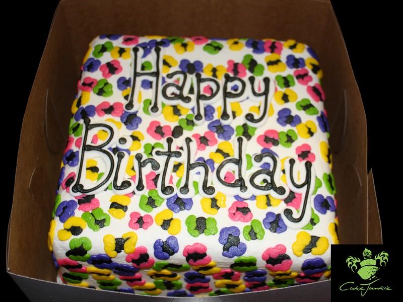 Colorful Cheetah Print Cake
