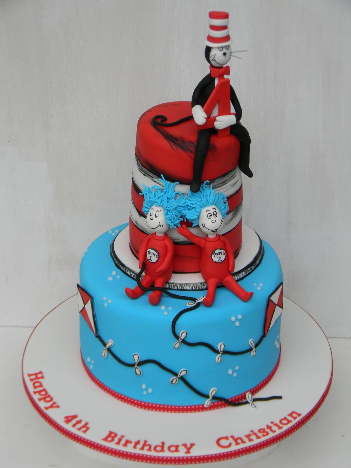 Terrific 11 Dr Seuss Cat In The Hat Birthday Cakes Photo Dr Seuss Cat Funny Birthday Cards Online Elaedamsfinfo