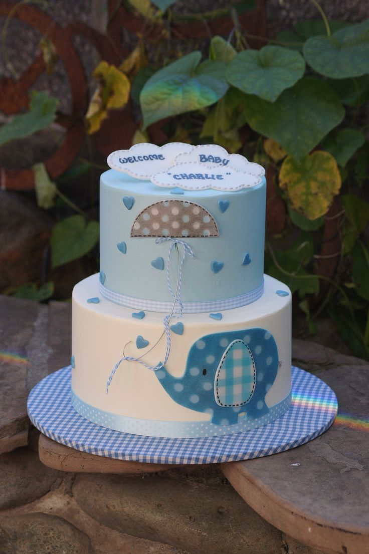 11 Elephant Cakes For Boys Photo Elephant Baby Shower Cake