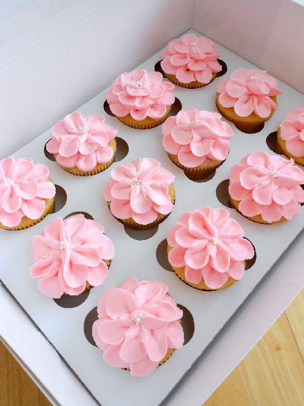 Girl Baby Shower Cupcake Cake Ideas