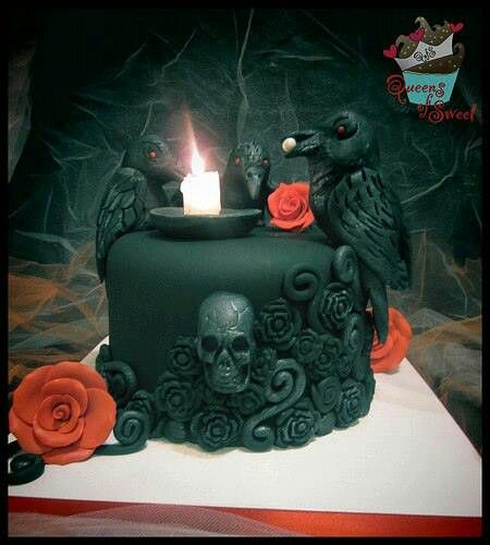 Remarkable 12 Fantastic Gothic Cakes Photo Gothic Birthday Cake Awesome Funny Birthday Cards Online Aeocydamsfinfo