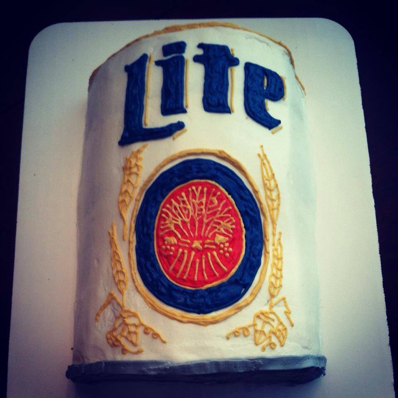 11 Miller Lite Can Cakes Photo Miller Lite Beer Can Cake Happy