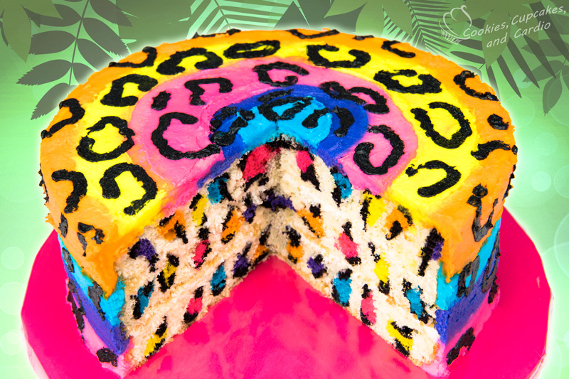 12 Photos of Rainbow Colored Leopard Print Cakes