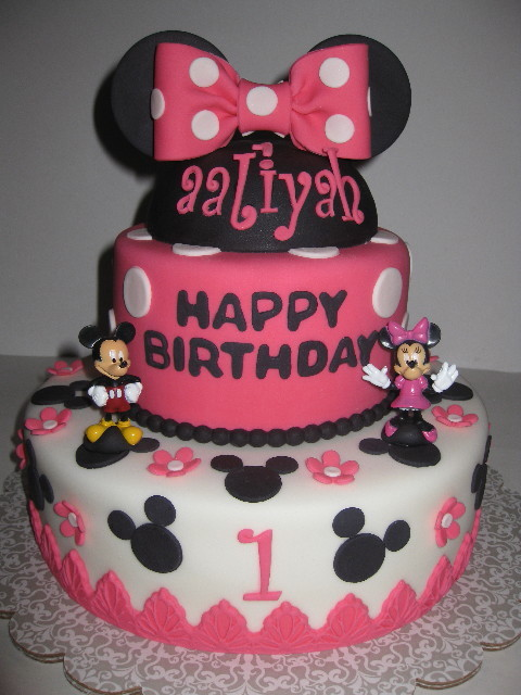 Awe Inspiring 9 Mickey And Minnie Mouse Decorations Birthday Cakes Photo Funny Birthday Cards Online Alyptdamsfinfo
