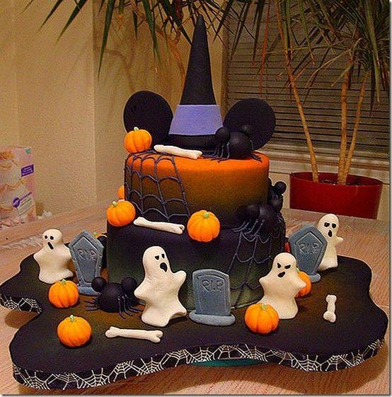 7 Disney Cakes Halloween Photo Mickey Mouse Halloween Pumpkin Cake