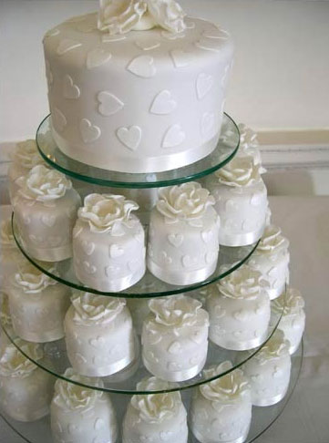 Mini Cupcake Wedding Cake Ideas