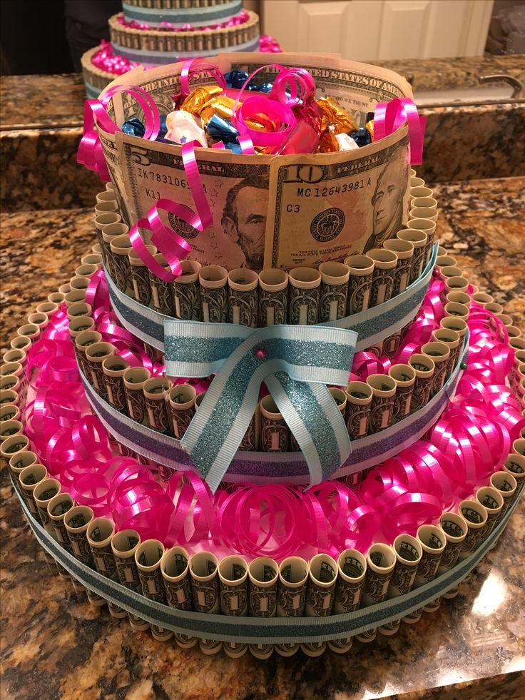 Peachy Small Money Cake Easy Craft Ideas Personalised Birthday Cards Veneteletsinfo