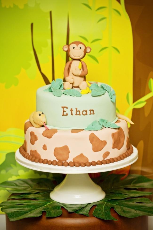 11 Monkey Themed Birthday Cakes Decorated Photo Monkey Birthday