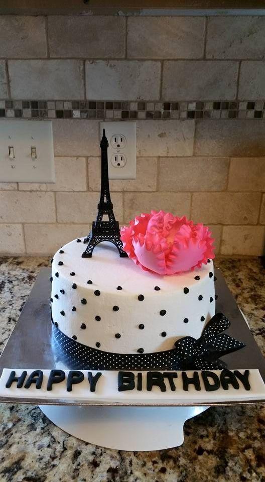 11 Blue And Pink Paris Birthday Cakes Photo Paris Birthday Cake
