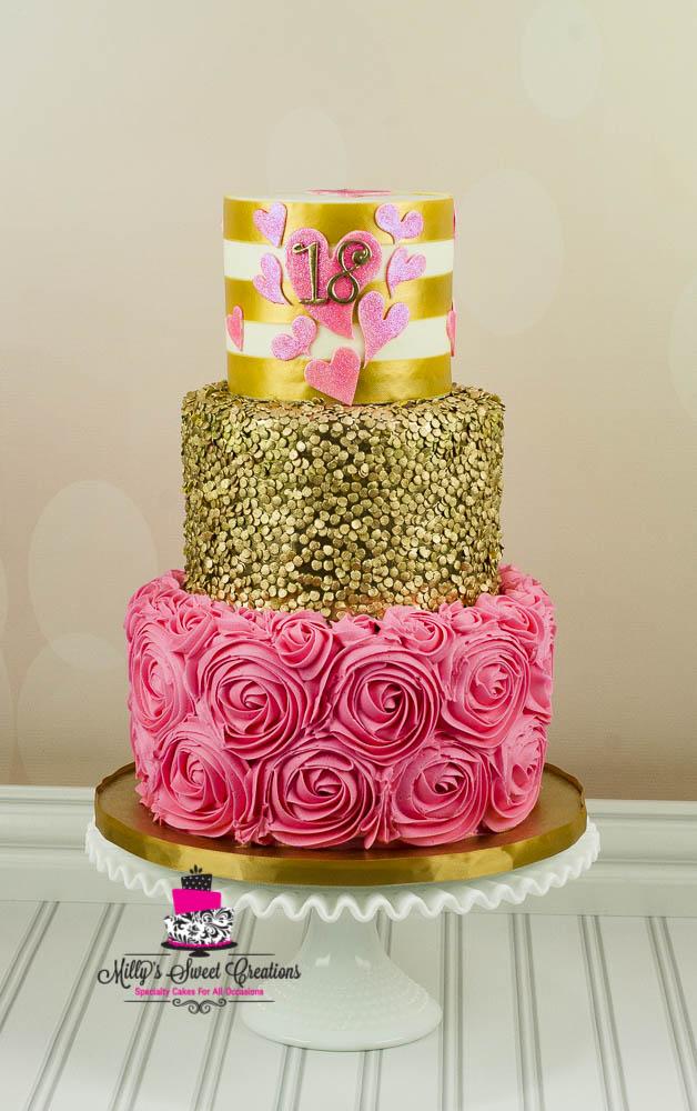6 Golden Birthday Cakes 18th Birthday Photo Golden Birthday Cake