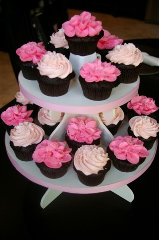 10 Girls Pink Baby Shower Cupcakes Ideas Photo Pink Baby Shower