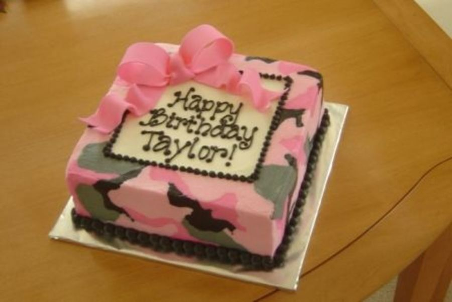 5 Blue And Pink Camo Cakes Photo Pink Camo Birthday Cake Ideas
