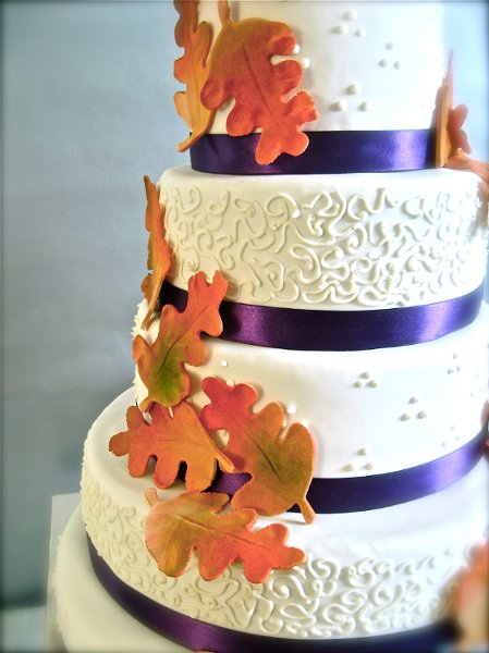12 Fall Wedding Cakes With Purple Photo - Purple Orange Fall ...