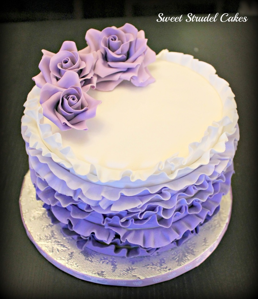 12 Purple And Blue Ombre Birthday Cakes Photo Purple Ombre Cake