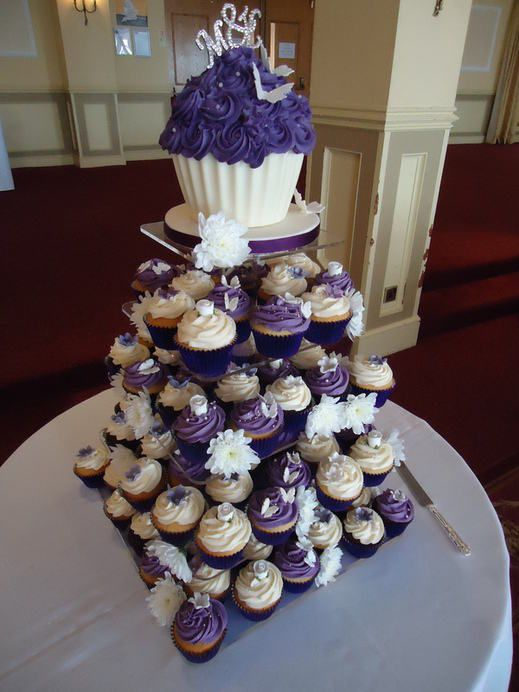 violet bakery wedding cakes pictures 8 ivory purple silver wedding cupcakes photo purple 21622