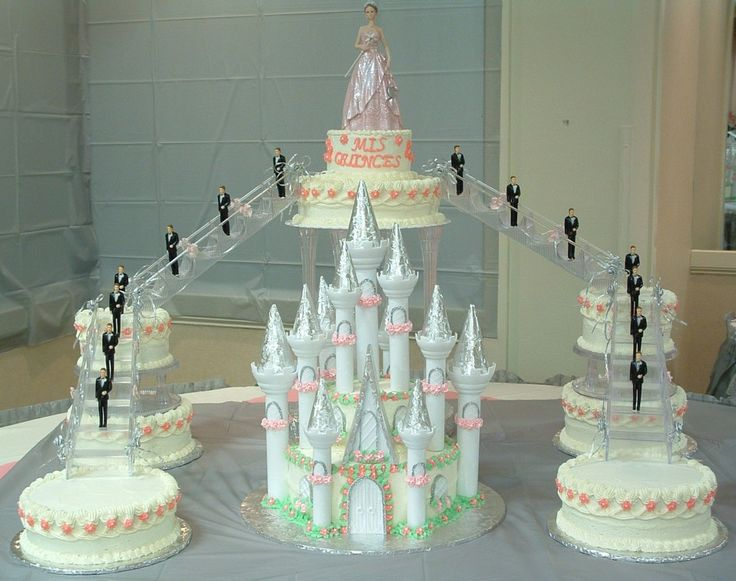 10 15 Tier Cakes Photo Quinceanera Sweet 15 Birthday Cake 6 Tier