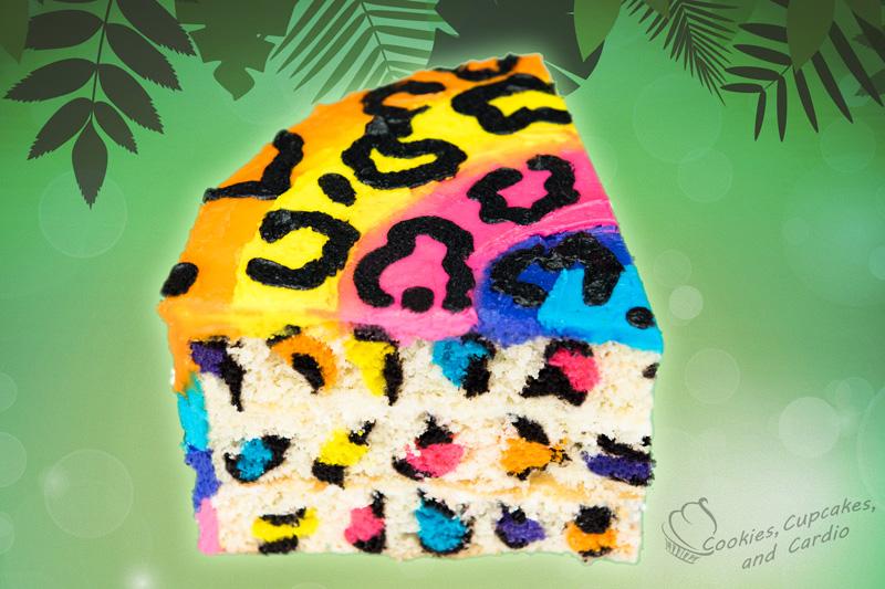 Rainbow Leopard Print Cake