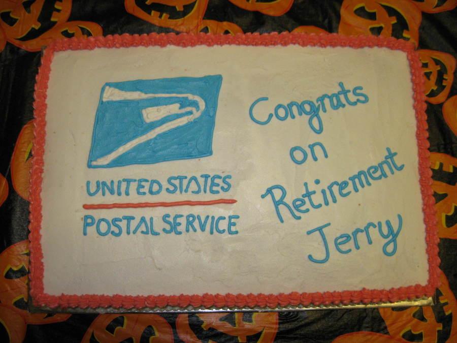 Postal Service Retirement Cake