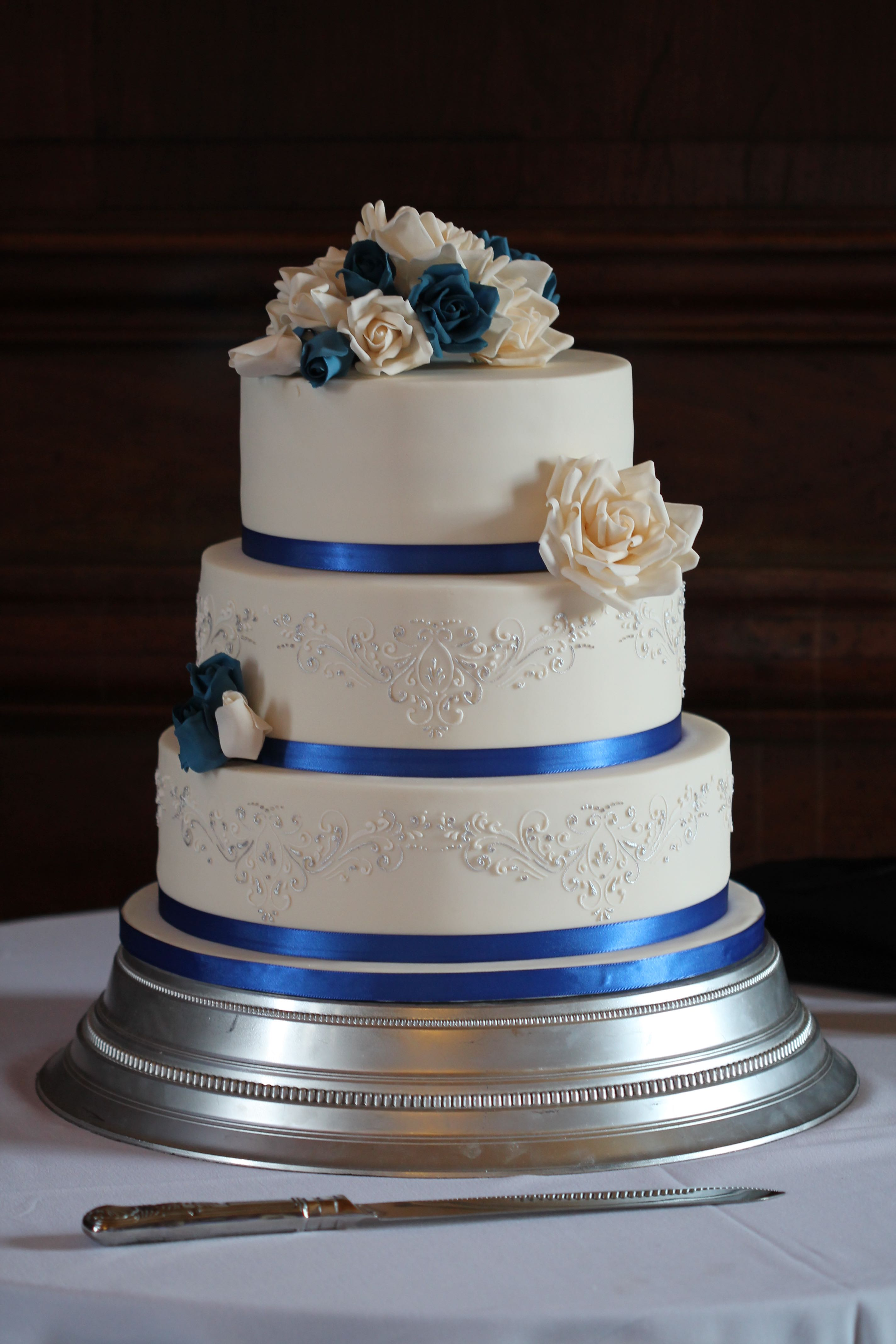 7 Royal Blue And Purple Wedding Cakes Ideas Photo - Blue and Purple ...