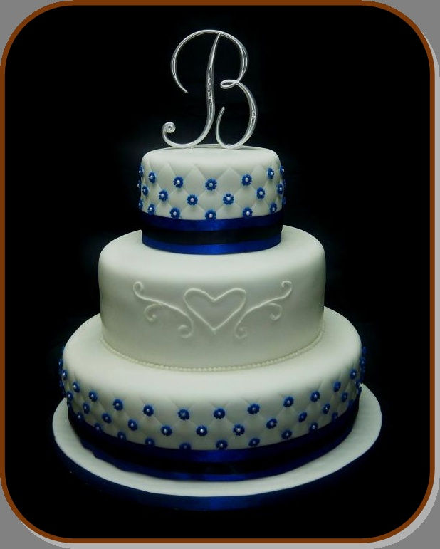 9 Royal Blue And Silver Square Wedding Cakes Photo Royal Blue And