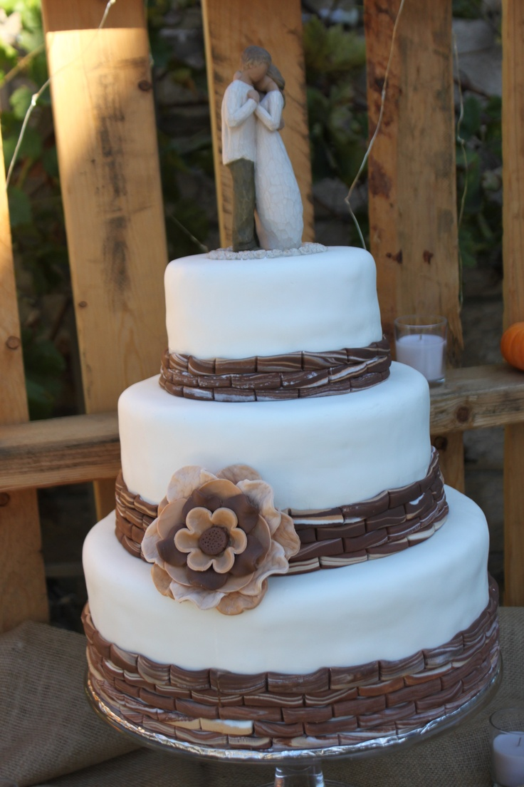 11 Wedding Cakes Rustic Column Photo - Small Square Wedding Cakes ...