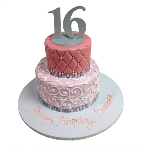 8 Simple 16th Birthday Cakes Photo Simple Sweet 16 Birthday Cakes