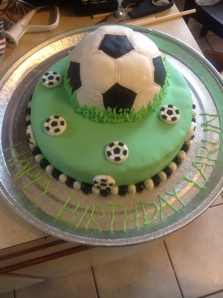 10 Soccer Themed Birthday Cakes Photo Birthday Cake Football Pitch