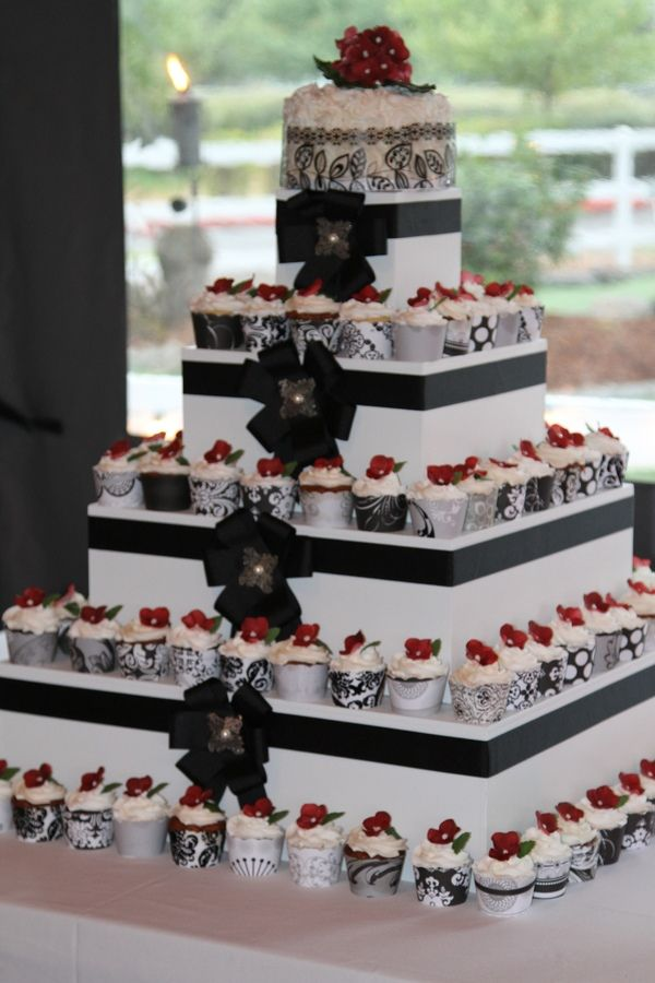 Square Wedding Cupcake Tower