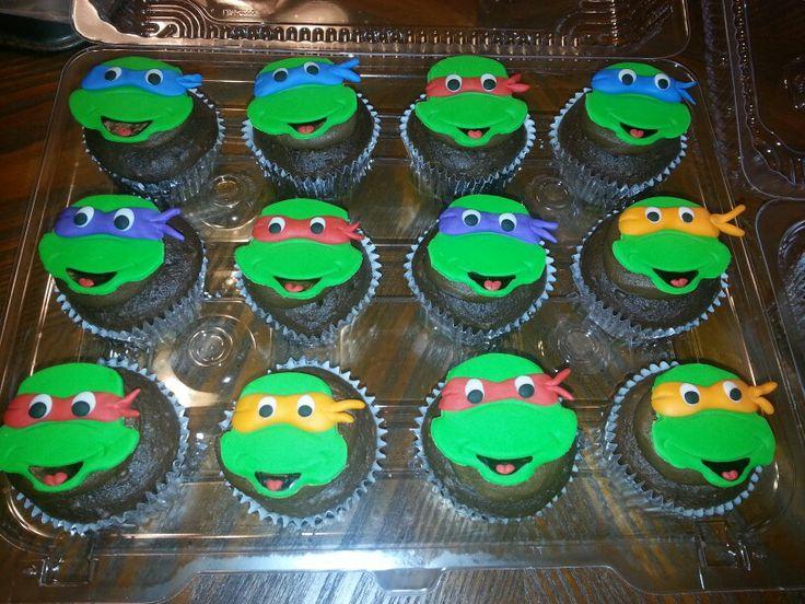Teenage Mutant Ninja Turtle Cupcakes