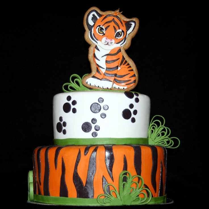 13 Photos of Tiger Decorations For Cakes