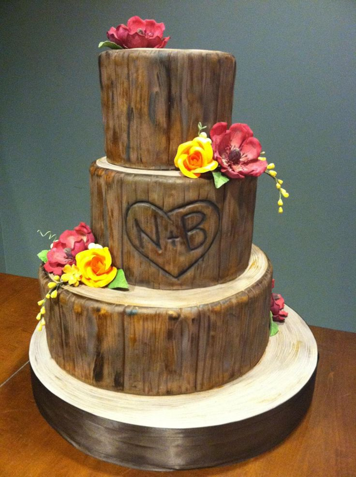 12 Cakes Shapes Wood Tree Photo - Birch Wood Wedding Cake, Tree ...