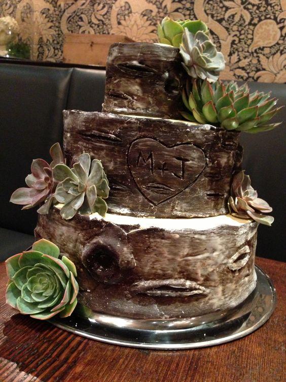 12 Cakes Shapes Wood Tree Photo - Birch Wood Wedding Cake, Tree ...