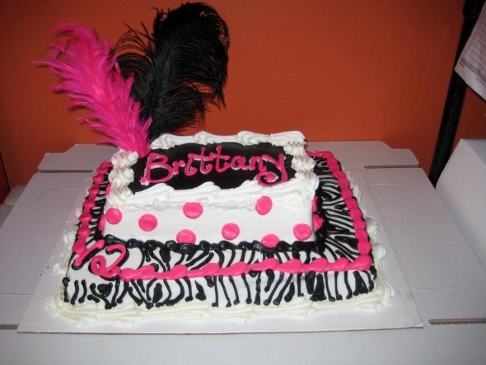 11 Little Girls Zebra Birthday Cakes Photo Pink And Black Birthday