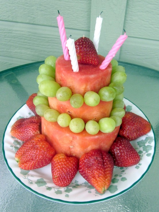 Watermelon and Fruit Cake