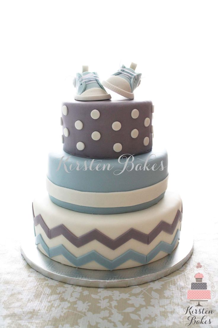 12 Gray Blue Orange Baby Shower Cakes Photo Blue And Gray Elephant